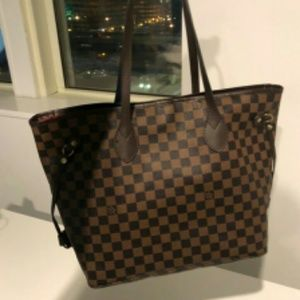 New LOUIS VUITTON Neverfull handbag Purse laknwj